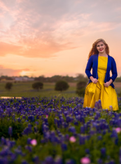 Shayla in the Blue Bonnets